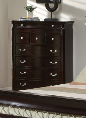 Drawer Chest - Manhattan Drawer Chest in Deep Rich Espresso - Coaster - 201315