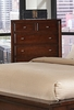 Drawer Chest - Nadine 6 Drawer Chest in Dark Mahogany - Coaster - 201335