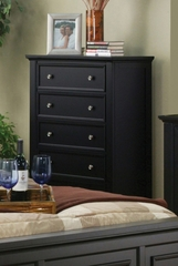 Drawer Chest - Sandy Beach 5 Drawer Chest in Black - Coaster - 201325