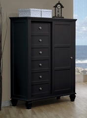 Drawer Chest - Sandy Beach 8 Drawer Chest in Black - Coaster - 201327