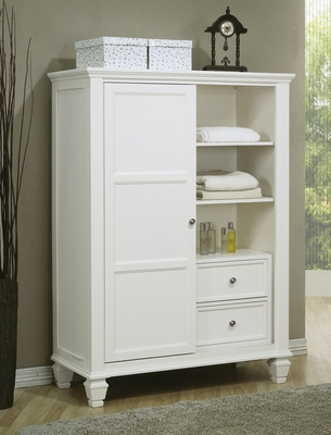 Drawer Chest - Sandy Beach 8 Drawer Chest in White - Coaster - 201307