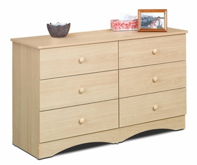 Dresser - 6 Drawer Double Dresser - Alegria Collection - Nexera Furniture - 5606