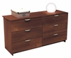 Dresser - 6 Drawer Double Dresser - Nocce Collection - Nexera Furniture - 401206