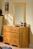 Dresser and Mirror Set - Double Dresser and Mirror Set in Country Pine - South Shore Furniture - 3432-DM