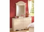 Dresser and Mirror Set - Double Dresser and Mirror Set in Vanilla Cream - South Shore Furniture - 3210-DM