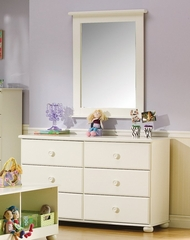 Dresser and Mirror Set in Pure White - South Shore Furniture - 3660-DM