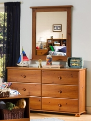 Dresser and Mirror Set in Sunny Pine - South Shore Furniture - 3642-DM