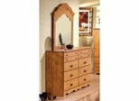 Dresser and Mirror Set - Triple Dresser and Mirror Set in Country Pine - South Shore Furniture - 3232-DM1