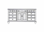 Dresser - Door Dresser - Wynwood Furniture - 1597-62
