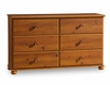 Dresser - Double Dresser in Sunny Pine - South Shore Furniture - 3642027