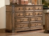 Dresser - Edgewood Dresser in Warm Brown Oak - Coaster - 201623