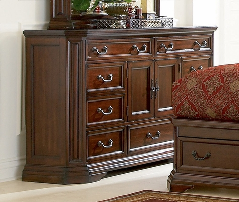 Dresser - Foxhill Dresser in Deep Cherry Brown - Coaster - 201583