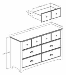 Dresser in Havana - Willow - South Shore Furniture - 3339027