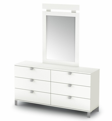 Dresser in Pure White - Sparkling - South Shore Furniture - 3260010