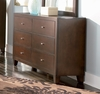 Dresser - Lorretta Dresser in Deep Brown - Coaster - 201513