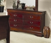 Dresser - Louis Philippe Dresser in Cherry - Coaster - 200433