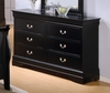 Dresser - Louis Philippe Dresser in Deep Black - Coaster - 201073