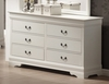 Dresser - Louis Philippe Dresser in White - Coaster - 201693