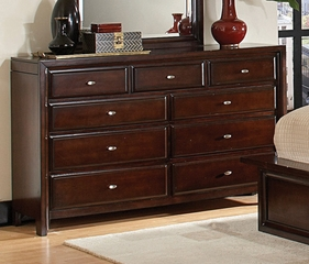 Dresser - Nadine 11 Drawer Dresser in Dark Mahogany - Coaster - 201333