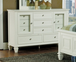 Dresser - Sandy Beach Dresser in White - Coaster - 201303