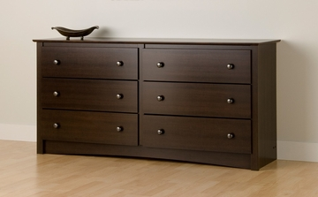 Dresser with 6 Drawers in Espresso - Fremont - Prepac Furniture - EDC-6330