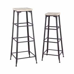 Driftwood Large and Medium Plant Stands - Powell Furniture - POWELL-602-267