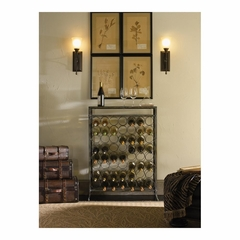 Driftwood Metal and Wood Wine Rack - Powell Furniture - POWELL-602-428