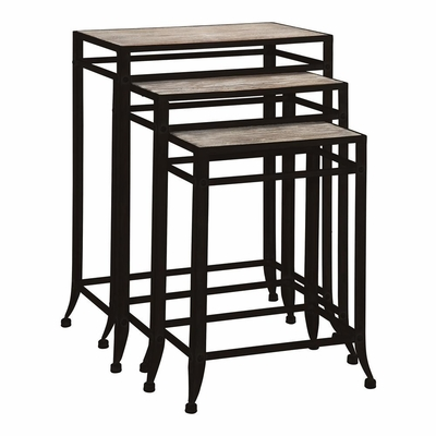 Driftwood Set of 3 Nesting Tables - Powell Furniture - POWELL-602-266