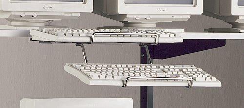 Dual Wire Keyboard Holder - Mayline Office Furniture - 250101