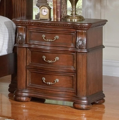 DuBarry Three-Drawer Traditional Nightstand - 201822