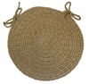 "Duet Flax 15"" Braided Chair Pad - Rhody Rug - D-53315CPFL"