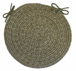"Duet Moss 15"" Braided Chair Pad - Rhody Rug - D-63315CPMO"