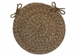 "Duet Taupe 15"" Braided Chair Pad - Rhody Rug - D-83315CPTP"