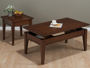 Dunbar Oak 2PC Cocktail and End Table Set - 411-1