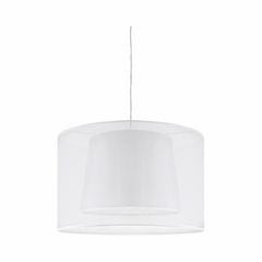 Duo Drum Ceiling Lamp White - Lumisource