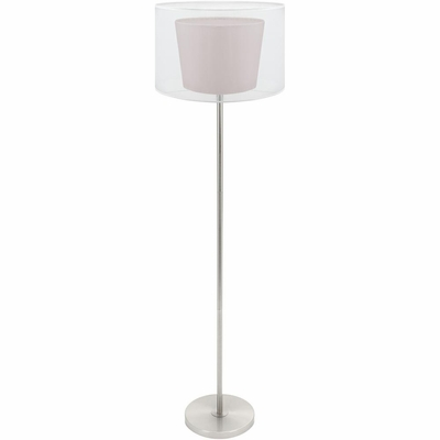 Duo Drum Floor Lamp Brown - Lumisource