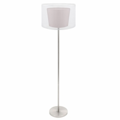 Duo Drum Floor Lamp - LumiSource - LS-L-DUOFL-BN-W