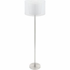Duo Drum Floor Lamp White - Lumisource