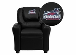 Duquesne University Dukes Black Vinyl Kids Recliner - DG-ULT-KID-BK-41026-EMB-GG