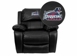 Duquesne University Dukes Leather Rocker Recliner - MEN-DA3439-91-BK-41026-EMB-GG