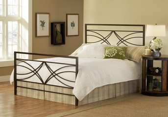 Dutton King Size Bed in Brown Crystal - Hillsdale Furniture - 1598BKR