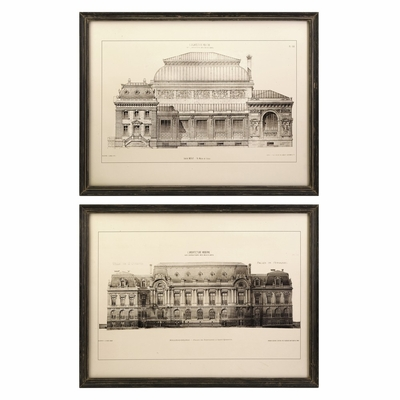 Duvall Framed Wall Prints (Set of 2) - IMAX - 27568-2