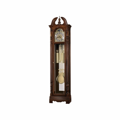 Duvall Grandfather Clock in Windsor Cherry - Howard Miller