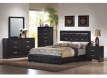 Dylan California King Size Bedroom Furniture Set in Black - Coaster - 201401KW-BSET