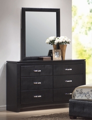 Dylan Dresser with Mirror in Black - Coaster - 201403-04-SET