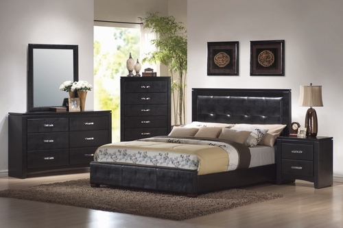 Dylan Eastern King Size Bedroom Furniture Set in Black - Coaster - 201401KE-BSET