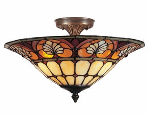 Dylan Tiffany Flush Mount - Dale Tiffany - TM100598