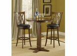 Dynamic Designs 3-Piece Pub Set with Mansfield Stools - Hillsdale Furniture - 4975PTBBRNS2MF