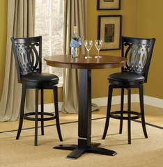 Dynamic Designs 3-Piece Pub Set with Van Draus Stools - Hillsdale Furniture - 4975PTBBLKS2VD