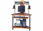 Eagle Computer Tower Pewter / Teak - Sauder Furniture - 80143
